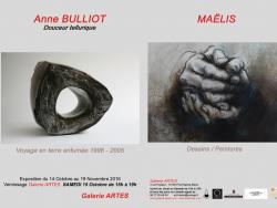 Anne BULLIOT Sculptures et MAËLIS Dessins